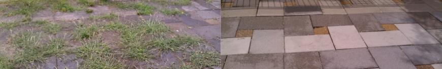 Voor en na Terras Reiniging